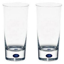 Intermezzo Blue 11 oz. Tumbler Glass (Set of 2)