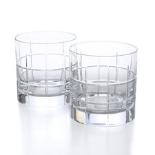 Street Double Old Fashioned Glass (Set of 2)