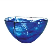 <strong>Kosta Boda</strong> Contrast Medium Blue Bowl