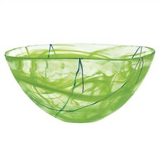 Contrast Large Lime Bowl