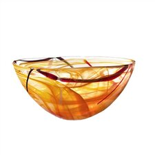 <strong>Kosta Boda</strong> Contrast Large Orange Bowl