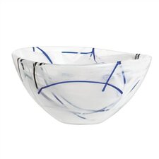 <strong>Kosta Boda</strong> Contrast Small White Bowl