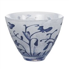 <strong>Kosta Boda</strong> Floating Blue Flower Bowl
