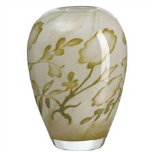 Floating Flower Yellow Vase