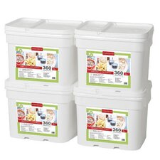 360 Meals Emergency Food Storage (Set of 4)