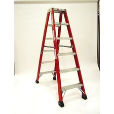 4.1' Heavy Duty Double Front Step Ladder