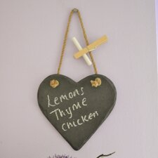 Mini Heart Slate Memo Board