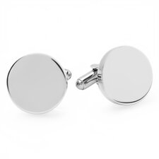 Stainless Steel Round Cufflinks