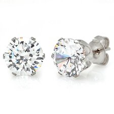 <strong>Steeltime</strong> Diamond Stud Earrings