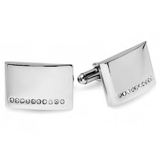 Stainless Steel Diamond Cufflinks