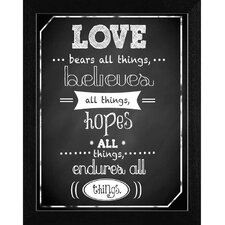 Love Endures Wall Art