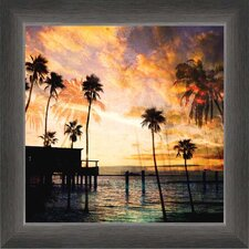 Sunset on the Pier B Framed Graphic Art
