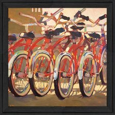 Retro Bikes Framed Graphic Art