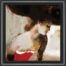 Lady In Framed Painting Print
