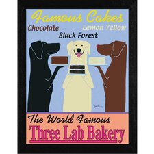 Three Lab Bakery Framed Graphic Art
