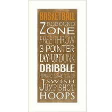 Basketball Framed Textual Art