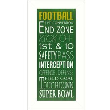 Football Framed Textual Art