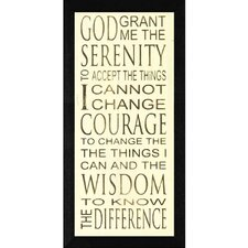 Serenity Framed Textual Art