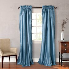 Faux Silk Curtain Panel (Set of 2)