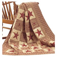 Vintage Star Cotton Quilted Throw
