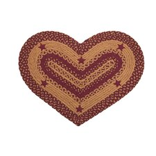 Star Wine Heart Rug