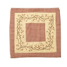 Checkerberry Quilted Pillow