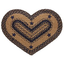 Star Navy Heart Rug