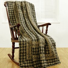 Blackberry Vine Cotton Quilted Throw
