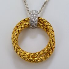 Mesh Diamond Pendant