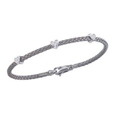 Mesh Heart Cut Diamond Bracelet
