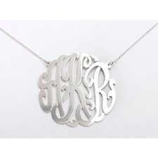 <strong>Shame on Jane</strong> Sterling Silver Monogram Necklace