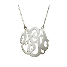 <strong>Shame on Jane</strong> Sterling Silver Initial Necklace