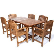 7 Piece Butterfly Dining Set