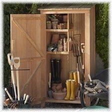 "Western Red Cedar 2'10"" W x 1'10.5"" D Garden Storage Shed"