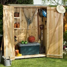 Hardwood Doweling Storage Shed