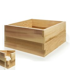 <strong>All Things Cedar</strong> Square Double Raised Garden Box Planter