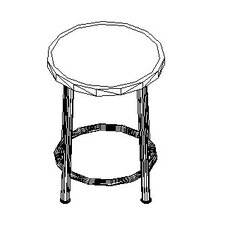 <strong>Shain</strong> Height Adjustable Stool with Swivel