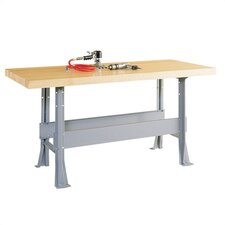 Two Station Workbench with Steel Legs