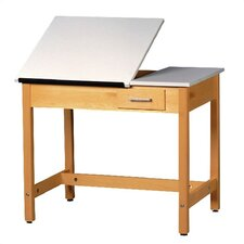 <strong>Shain</strong> Fiberesin Adjustable Drafting Table with Drawer
