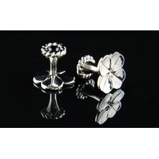 Personal Accessories Clover Solid Brass Semi-Precious Stone Cufflinks