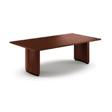 Boat Shape Conference Table with Curved Plinth Base