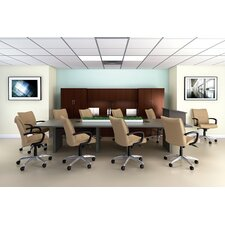 "144"" Wide Rectangle Top Conference Table with Slab Base"