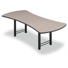 "96"" Wide Presentation Top Conference Table with Slab Base"