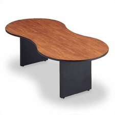 "96"" Wide Break Out Top Conference Table with Curved Plinth Base"