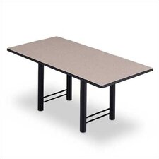 "144"" Wide Rectangle Top Conference Table with H Base"