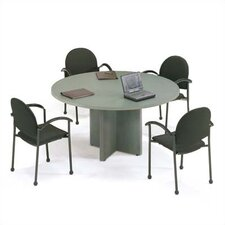 "42"" Diameter Bull Nose Round Top Gathering Table with X-Base"
