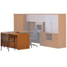 Unity Executive Series Extended Corner Desk with Hanging Pedestal