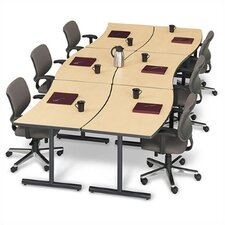 "<strong>ABCO</strong> Smart Tables: 30"" x 72"" Crescent Concave/Convex Workstation"