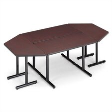 "Smart Tables: 30"" x 48"" Thermofused Melamine Rectangle and Trapezoid Conference Table"