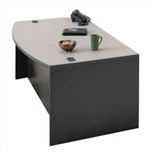 "<strong>ABCO</strong> Unity 72"" W Arc Left Pedestal Executive Desk with 3 Drawers"